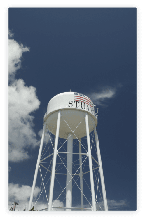 Photo of Stuart water tower